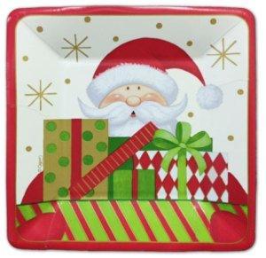 Santa Christmas Dessert Plates