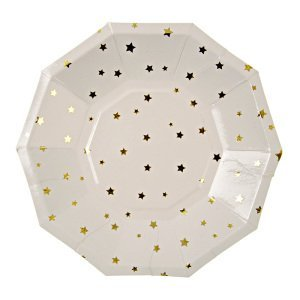 Toot Sweet Gold Stars Party Plate