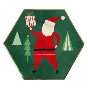 Very Merry Santa Large Plates