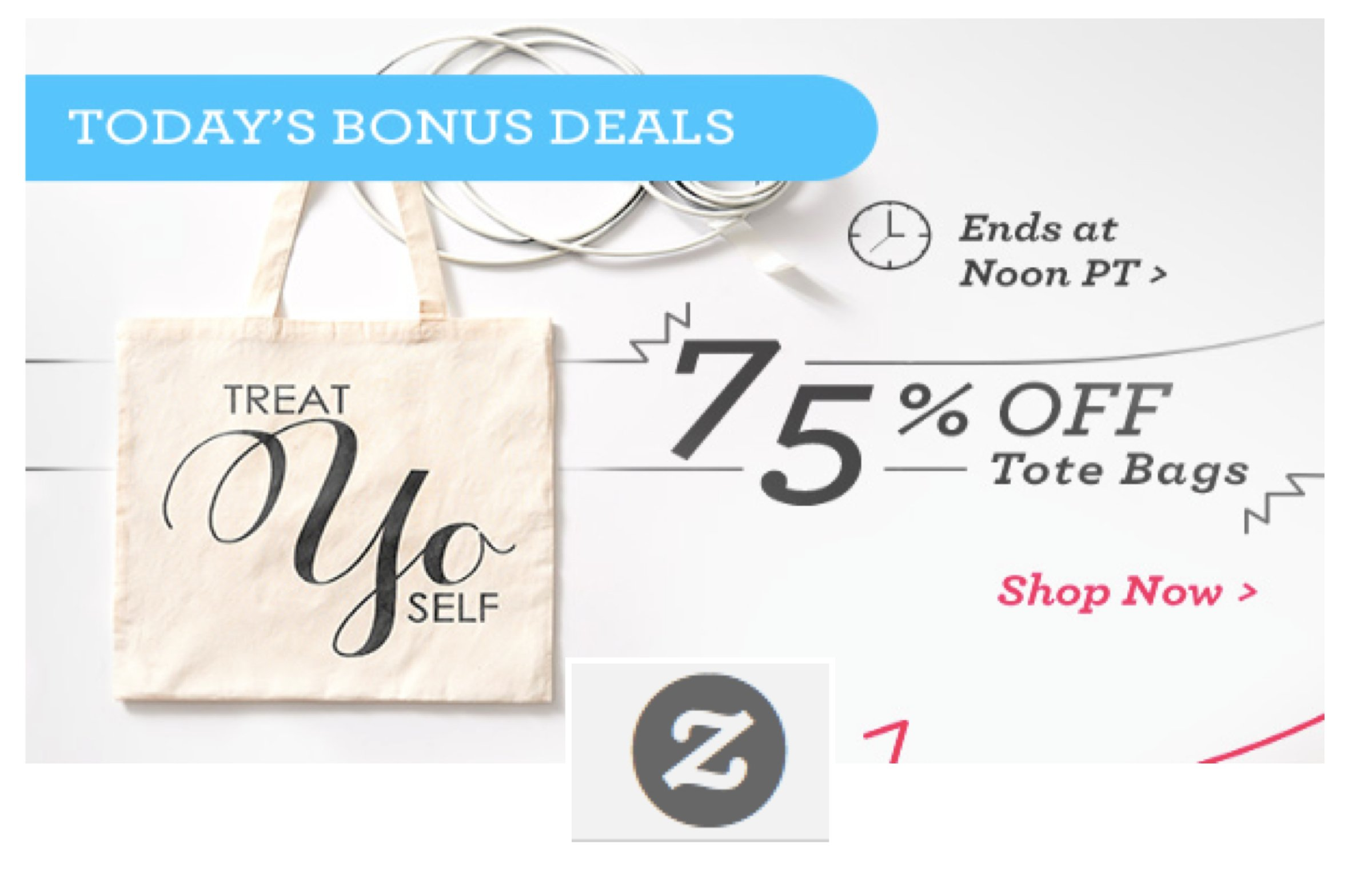 75% OFF Zazzle Tote Bags on Cyber Monday