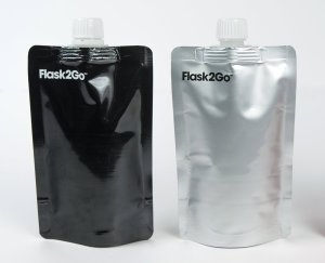 Flasks2Go - Black and Silver