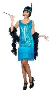 Flirty Blue Flapper Costume