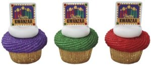 Happy Kwanzaa CandlesCupcake Toppers