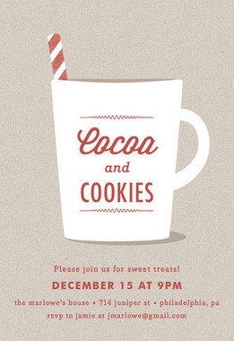 Similiar Movie And Hot Chocolate Party Invitation Keywords