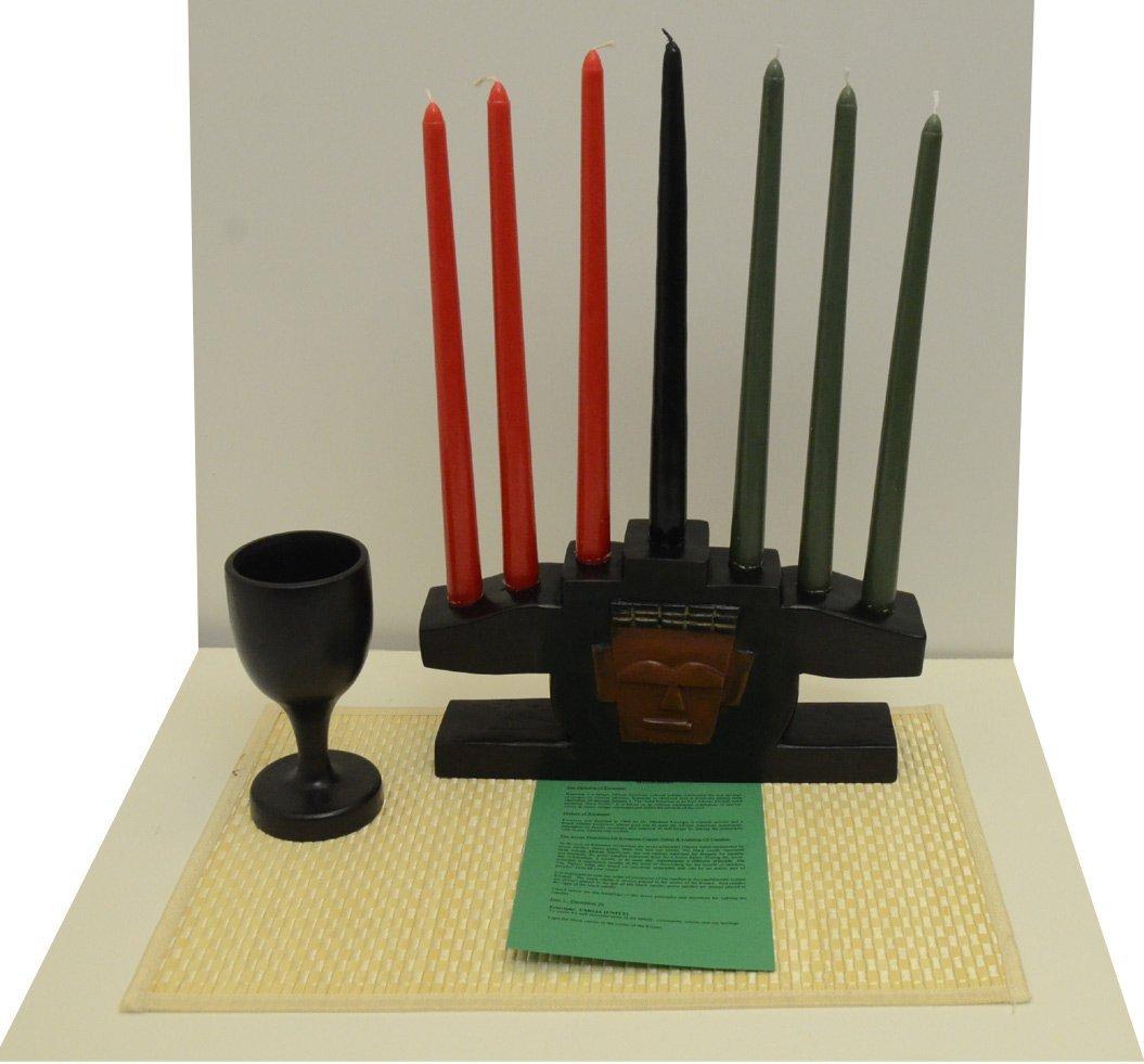 Kwanzaa Mask Candleholder & Celebration Set