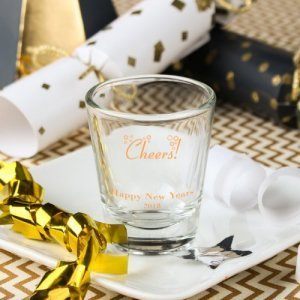 Personalized New Years Shot Glasses