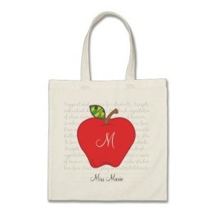 Personalized Teacher Tote Bag