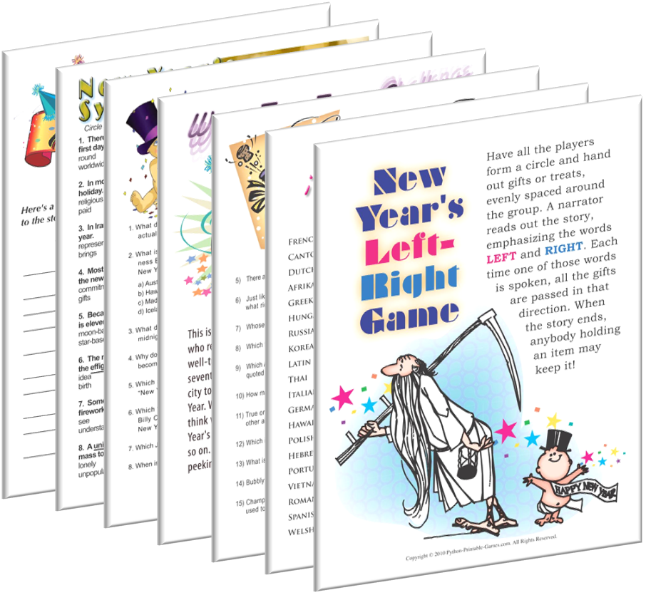 Printable New Year's Eve Games, printable new years party games