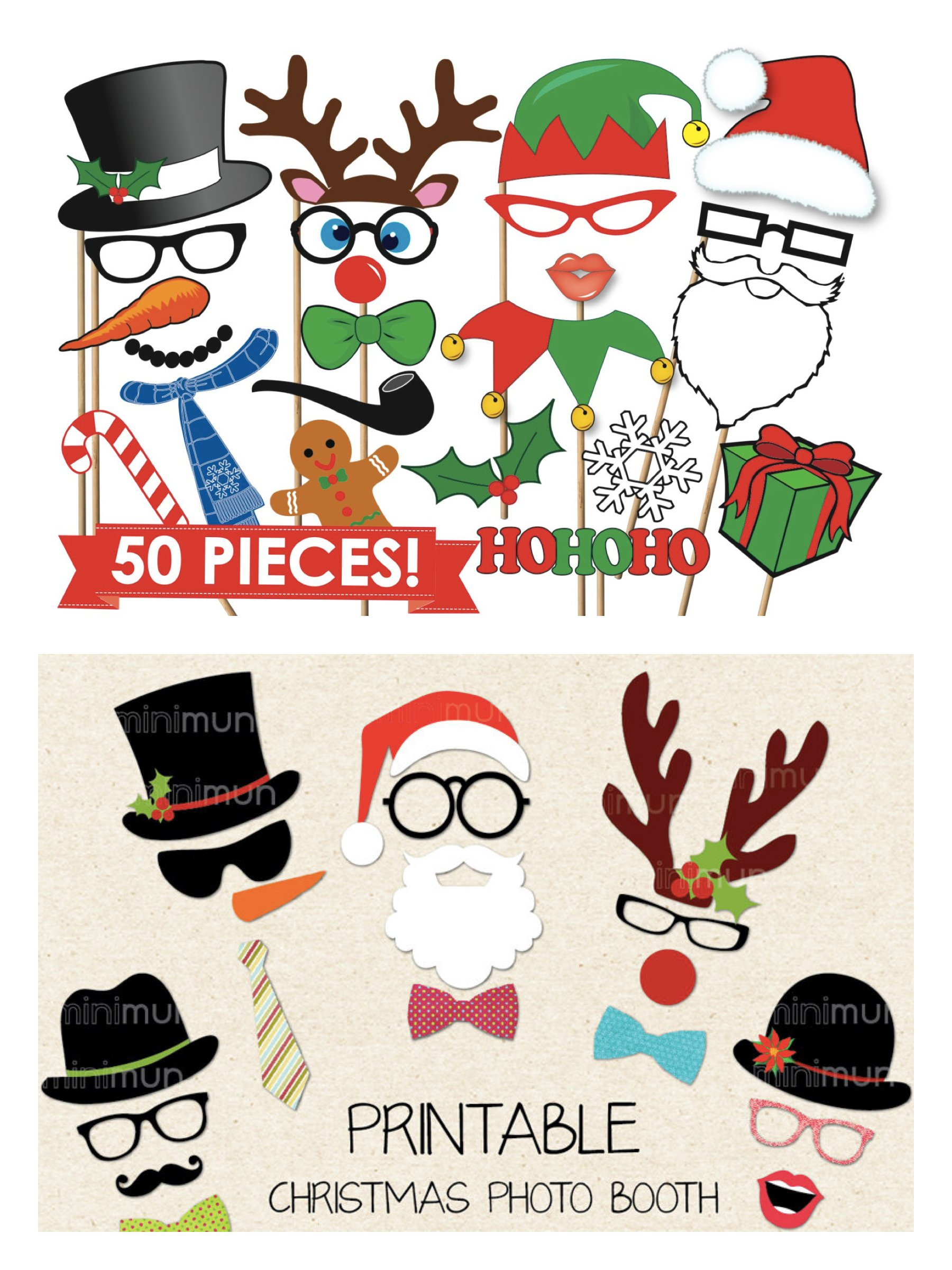 Printable Christmas Photo Props