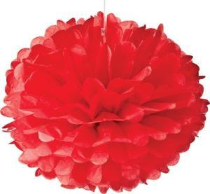 Red Tissue Paper Pom Poms