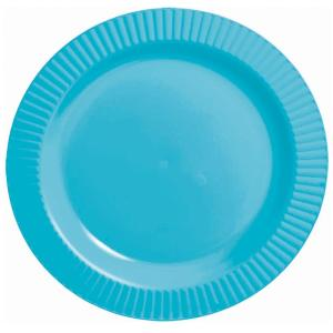 caribbean blue plates