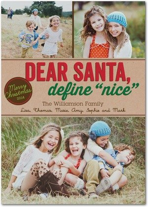 the naughty list christmas cards