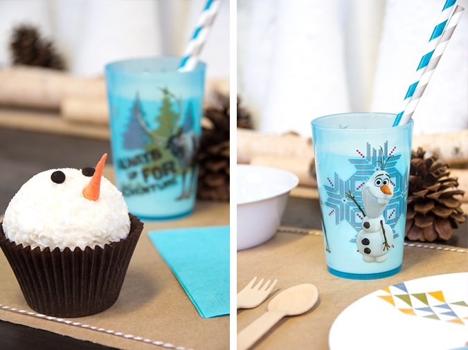 Adorable Olaf Cupcake, Frozen Party Planning, Ideas & Supplies
