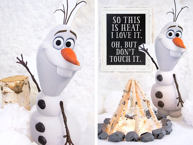 Frozen Party Cardboard Olaf Standup