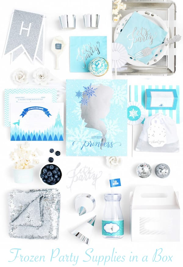 Frozen Party Supplies In a Box