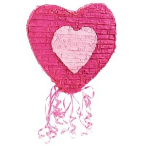 Pink Heart Pull-String Pinata