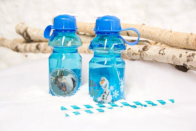 Olaf water bottles, Frozen Party Planning, Ideas & Supplies