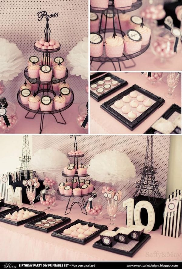 Paris Themed Party Printable Set