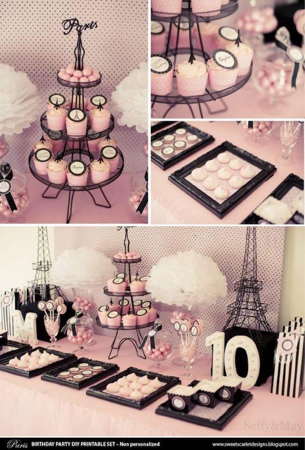 Paris Themed Party Printable Set
