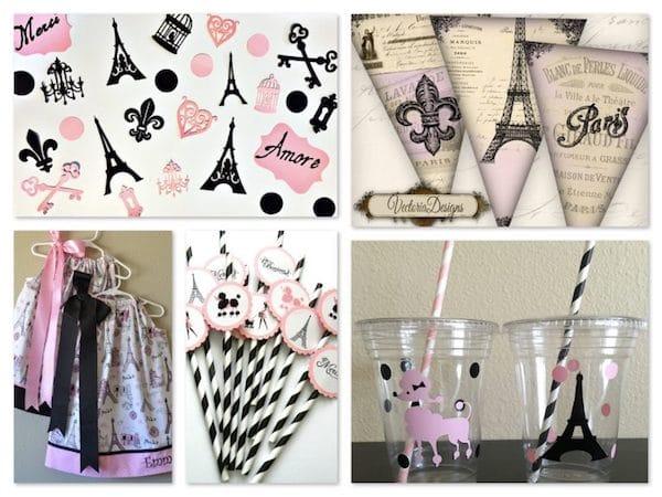 Paris Damask Party Supplies