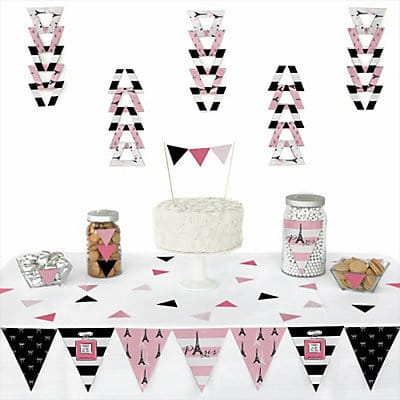Paris Themed Party Triangle Decoration Kits