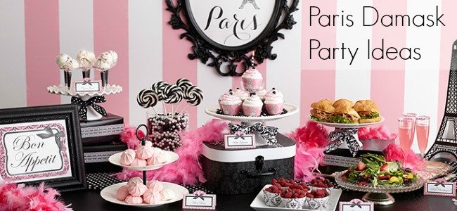 Pink Paris Damask Party Ideas