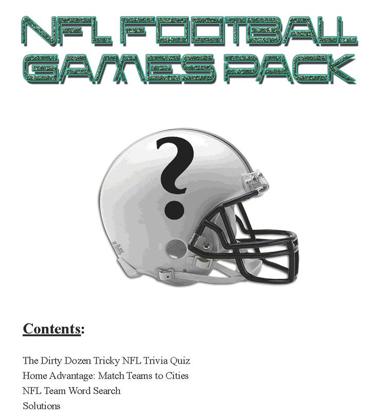 Printable NFL Football Games Pack
