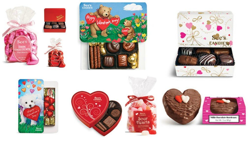 See's Candies Valentines Day Teats & Favors