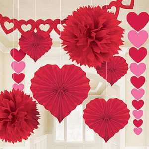 Mother Daughter Valentine Sleepover Party Decor. Valentineu0027s Day Paper  Decorating Kit ...