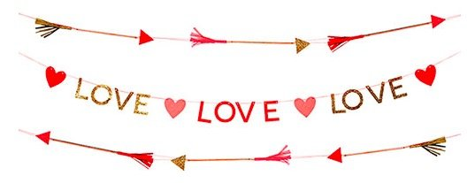 Valentines Love Hearts Garland