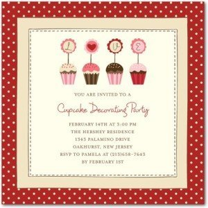 cupcake creations valentine's day party invitations