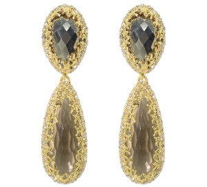 Alexis Bittar Pyrite Crystal Cave Earrings