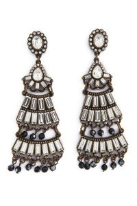 Badgley Mischka Jewelry Tiered Deco Earrings