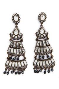 Badgley Mischka Jewelry Tiered Deco Earrings