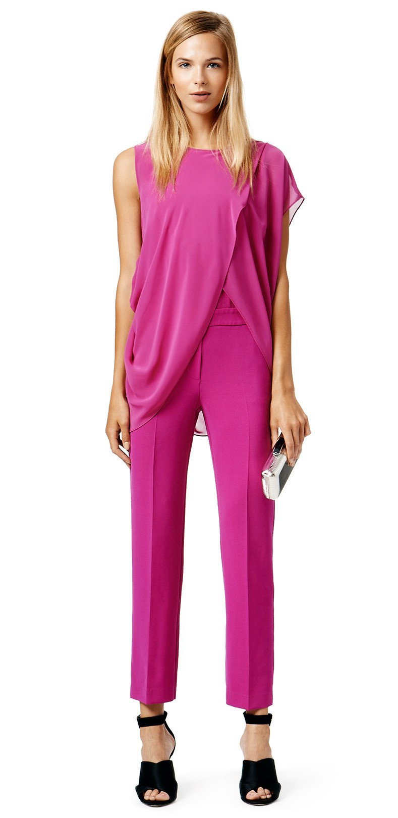 Blumarine Amber Waves Jumpsuit, party pretty in pink on Valentine's Day