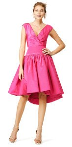 Christian Siriano Pink Tulip Dress, party pretty in pink on Valentine's Day