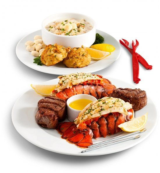 Filet Feast & Maine Lobster Tails Dinner, Romantic Dinner for Two
