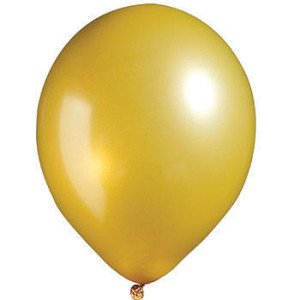 Gold Metallic Latex Balloon