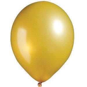 Gold Metallic Latex Balloon