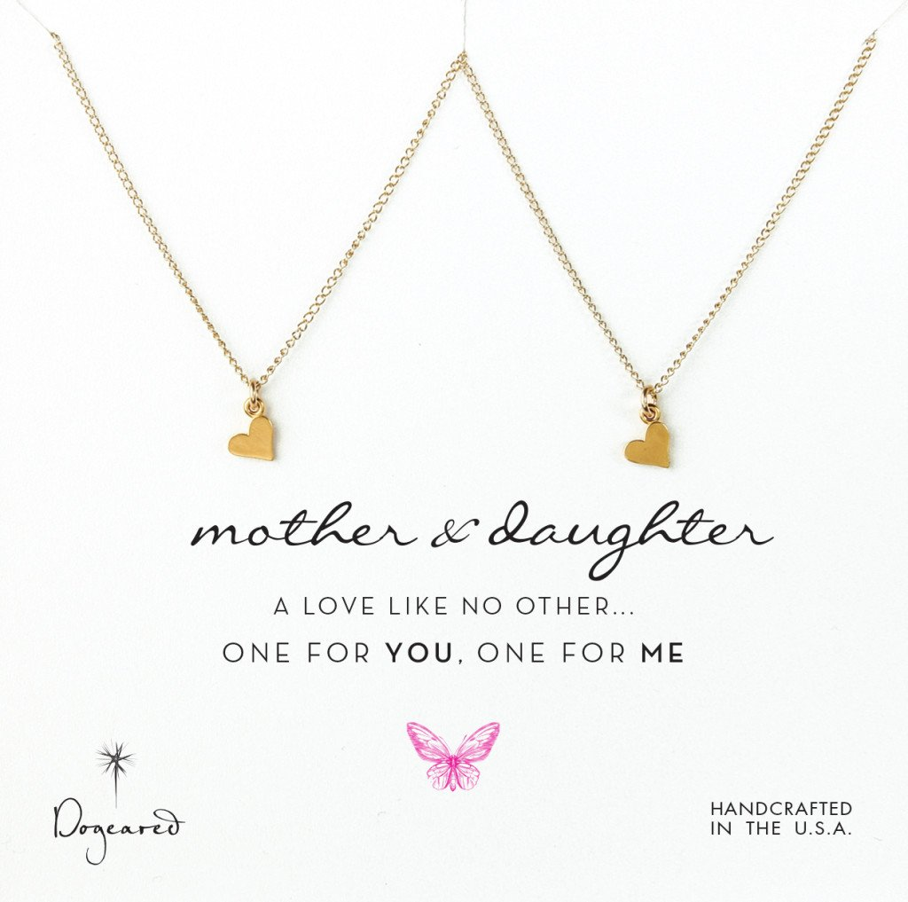 Mother Daughter Matching Heart Necklaces Gifts