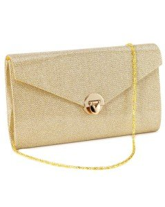 Heart-shaped Lock Ladies Sparkling Envelope Small Evening Party Clutch Crossbody Handbag