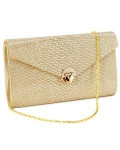 Heart-shaped Lock Ladies Sparkling Envelope Small Evening Party Clutch Crossbody Handbag