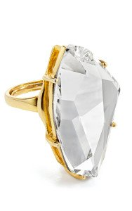 Kenneth Jay Lane Polished Crystal Ring