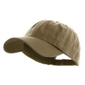 Low Profile Dyed Cotton Twill Cap - Khaki
