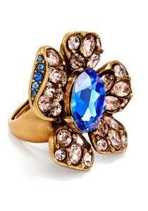 Oscar de la Renta Indigo Bloom Ring
