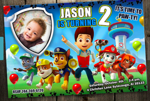 Personalized PAW Patrol Birthday Party Invitation