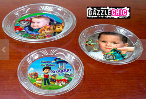 Printable Custom Party Plate Bottoms