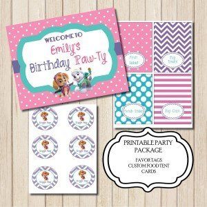 Printable Paw Patrol Party Package