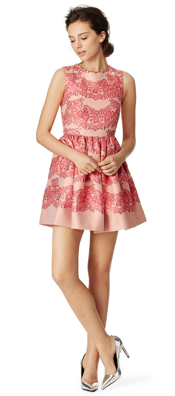 RED Valentino Lines of Pink Dress, party pretty in pink on Valentine's Day