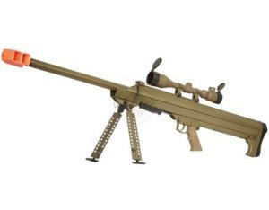 Snow Wolf Airsoft SR-01A Bolt Action .50 Cal Sniper Rifle - TAN